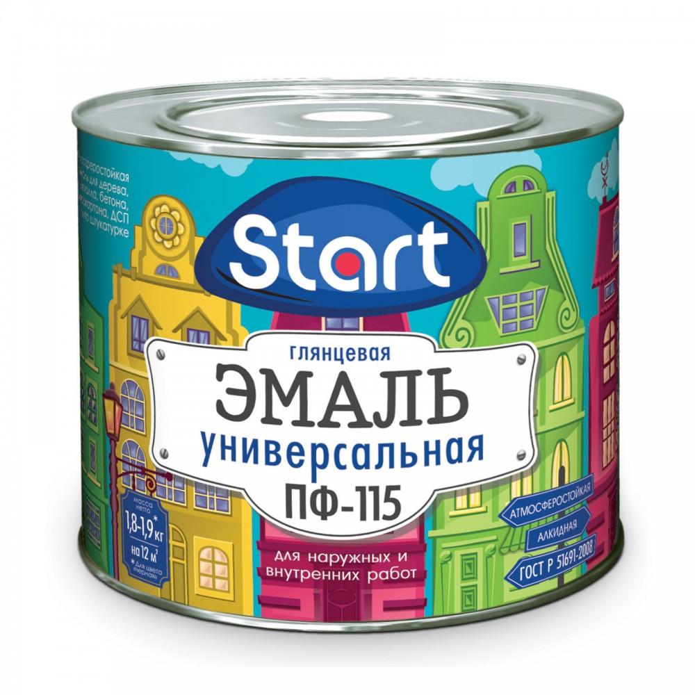"""Эмаль ПФ-115 """"Start"""" бордо 0.8 кг"""