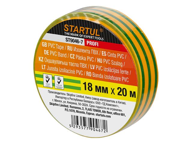 Изолента ПВХ 18ммx20м желто-зелен. ,ST9046-7