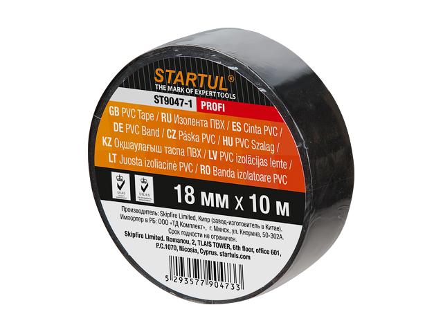 Изолента ПВХ черная 18ммx10метр  ST9047-1