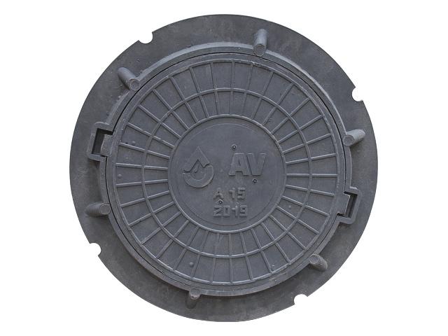 Люк садовый А15 серый/AV Engineering
