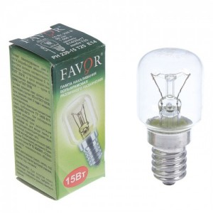 Лампа накал. Favor РН 230-15 Т25 Е14 д/холодильн.