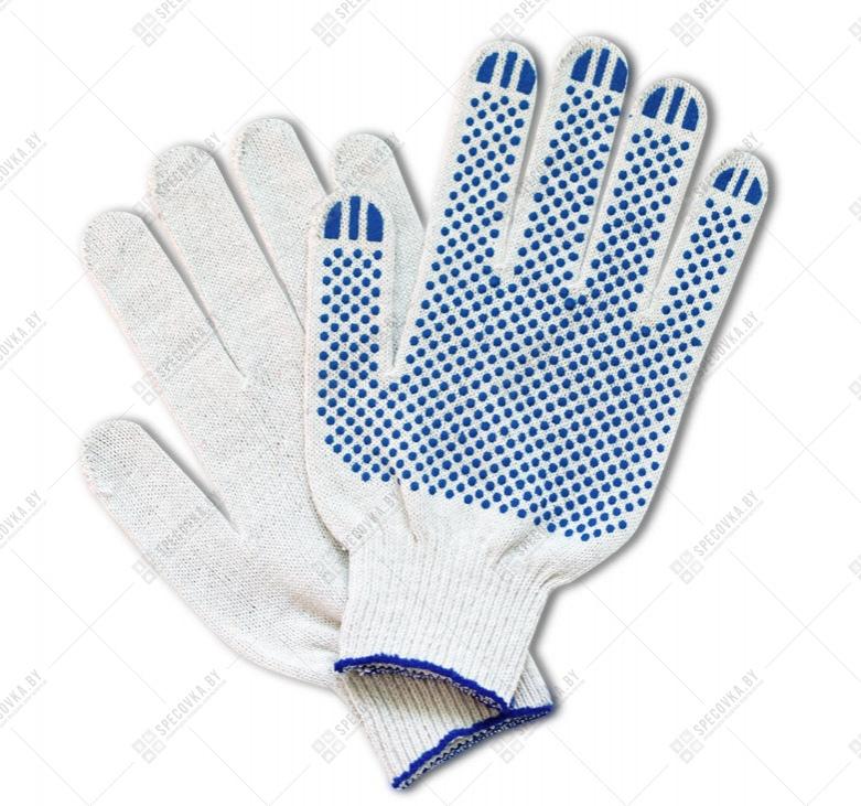 Перчатки раб. (5 нитка  10 кл.) белые/ST7191