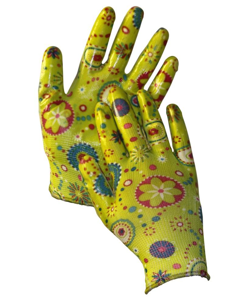 Перчатки нейлон. цветной