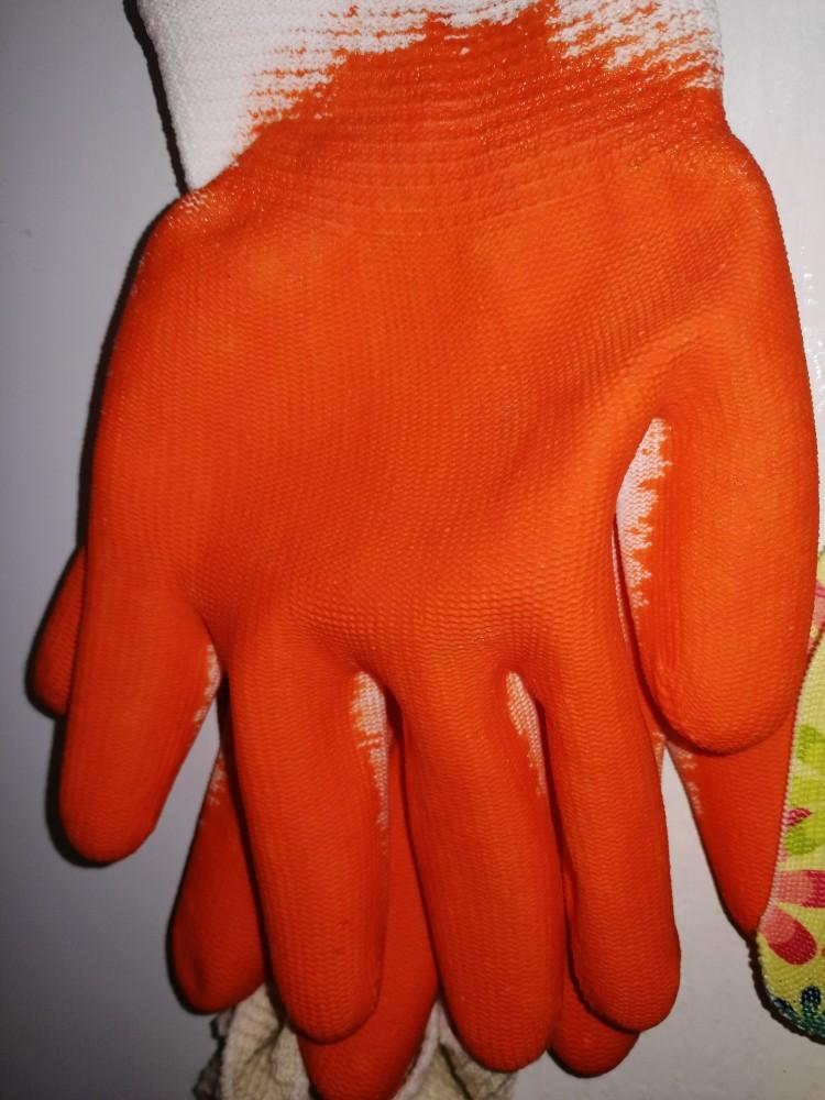 Перчатки нейл. голубой. облив.