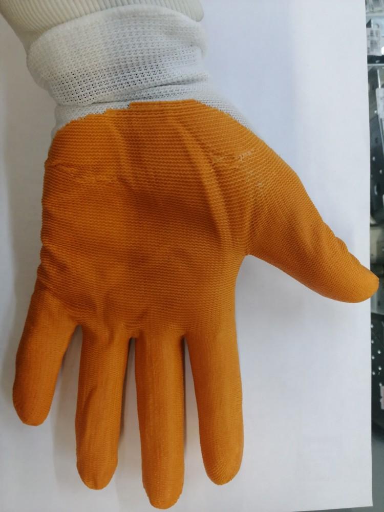 Перчатки нейл/нитр (оранж/синие)