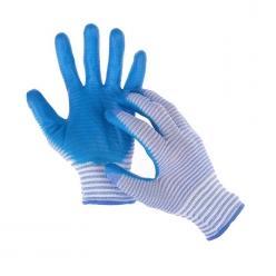 Перчатки нейлон полоса синяя