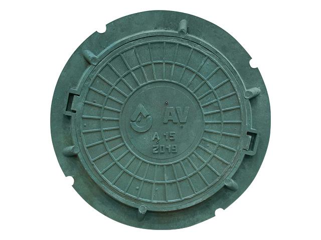 Люк садовый 15 кН (зеленый) AV Engineering
