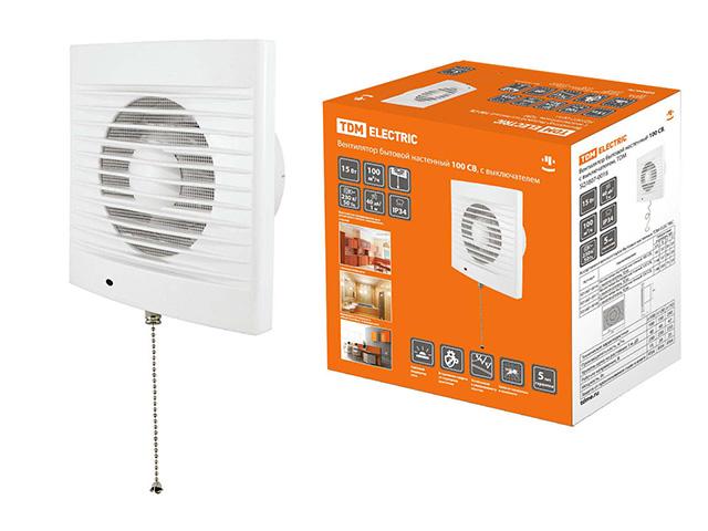 Вентилятор 100 СB с выключ. TDM/SQ1807-0016