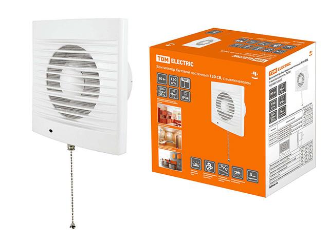 Вентилятор 120 СB с выключ. TDM/SQ1807-0017