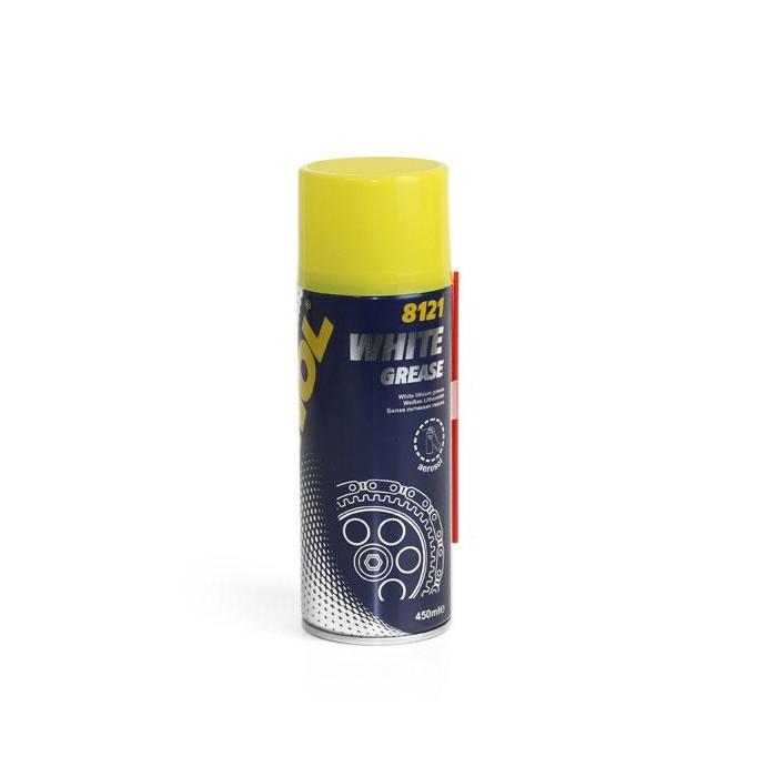Литиевая смазка аэрозоль Mannol White Grease 8121 0.45L