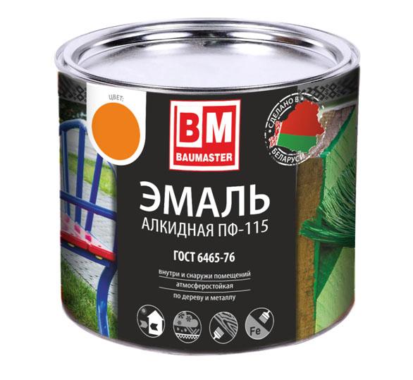 """Эмаль ПФ-115 """"Baumaster"""" вишневая 0.8 кг"""