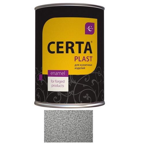 """Эмаль """"Certa""""серебристо-серая с молот.эффект.0.8 кг"""