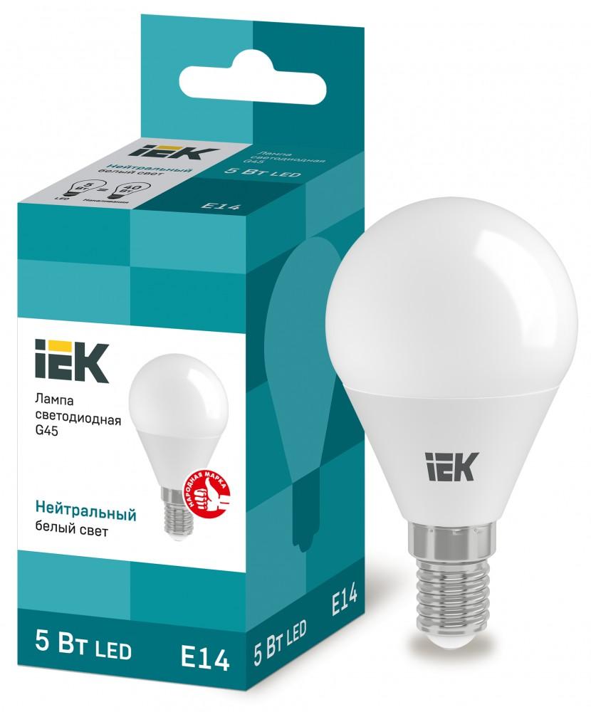 Лампа светодид. IEK ALFA G45 10w е14 4000 К