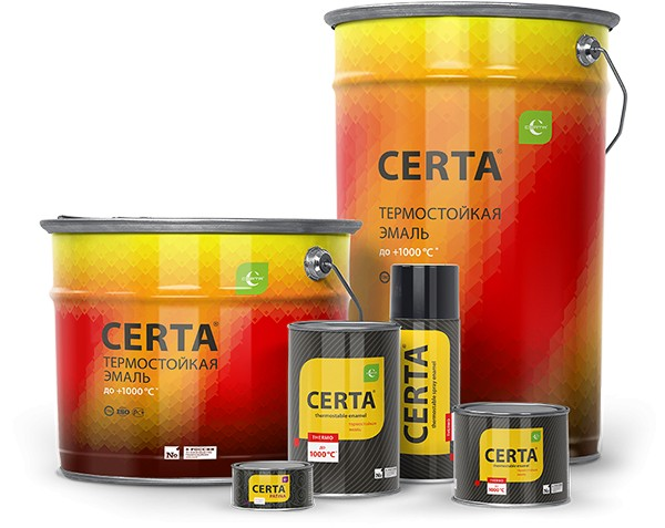 """Эмаль """"Certa""""термо красно-коричнев. 0.8 кг"""