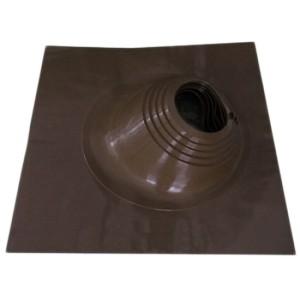 Проходник кровли (мастер флеш угловой 180-280 мм) коричневый