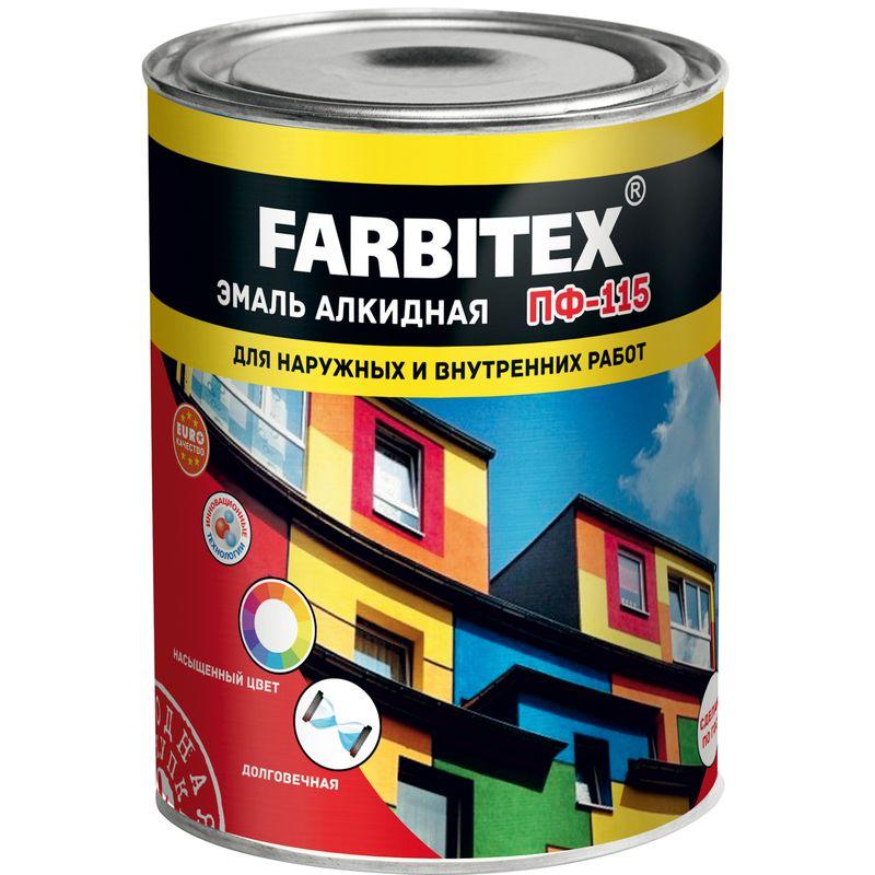 Farbitex Эмаль алкидная пф-115 синий, 0.8 кг