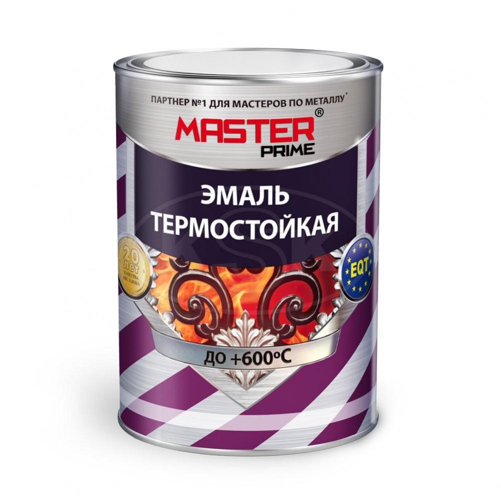 Master prime Эмаль термостойкая красно-коричневая, 0.8 кг