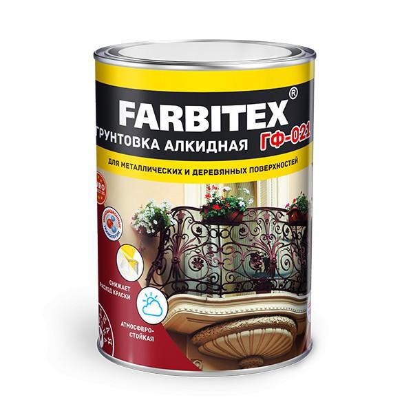 "Грунт ГФ-021 ""Farbitex"" серый 0,8 кг"