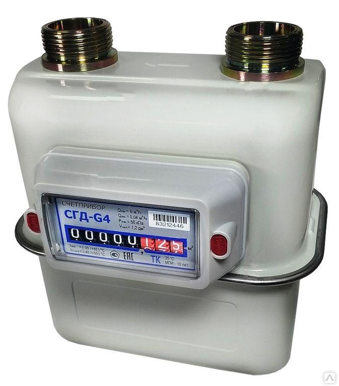 Счетчик газа СГД4-3-1-G4ТИ левый (110 мм)